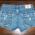 True Religion Daisy Duke Cut Off Low Rise Denim Jean Shorts Size 27