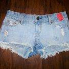 Womens AMERICAN EAGLE AEO Denim Jean SHORTIE Shorts Size 4