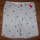 Abercrombie & Fitch Button Fly Logo Mens Shorts Size 33