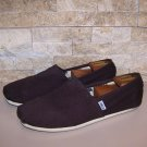 Toms Mens Classic Brown Canvas Slip On Shoes Size 10.5