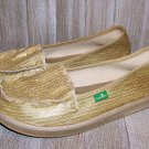 Sanuk Limelight II Gold Sequin Sidewalk Surfer Shorty Style Shoes Size 6