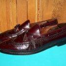 Allen Edmonds Manchester Tassel Wingtip Burgundy Dress Loafers 14 AA