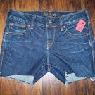 Silver Jeans Aiko Mid Rise Shorts Stretch Size 25