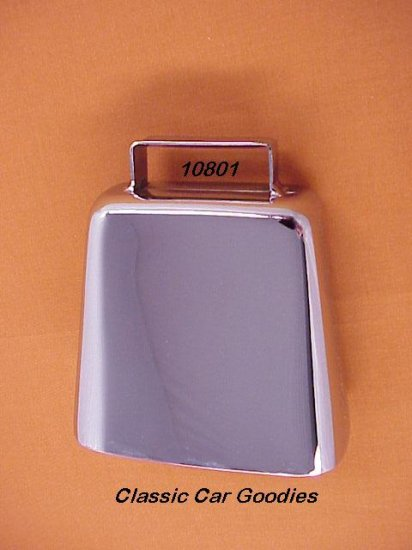 "Cow Bell Chrome 3 5/8"" 4X4 Truck Off Road Novelty"