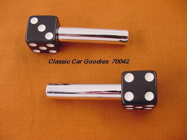 "Door Lock Knobs ""Black Dice"""