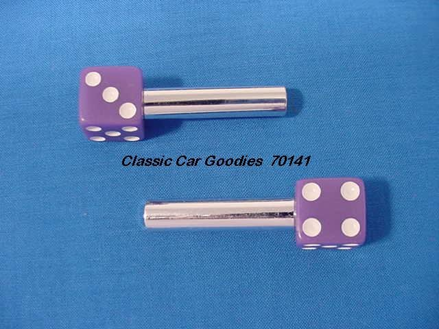 "Door Lock Knobs ""Purple Dice"""
