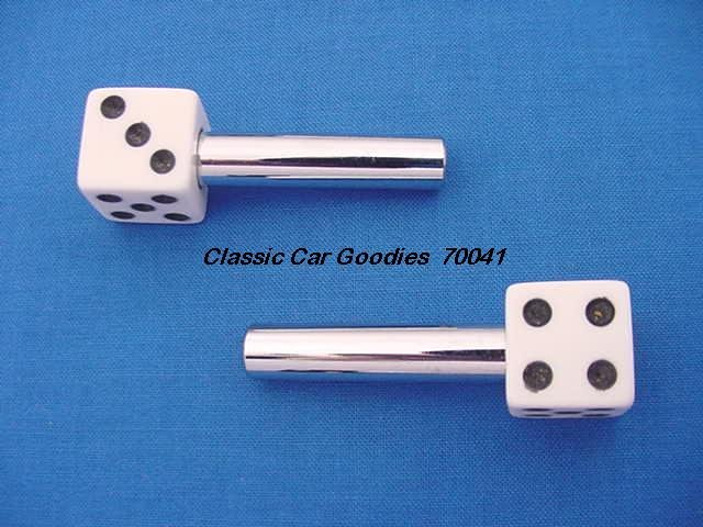 "Door Lock Knobs ""White Dice"""