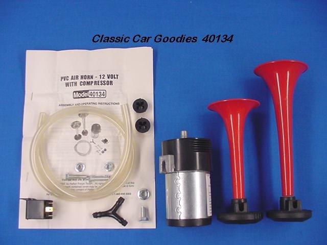Dual Air Horn Kit with Compressor. 12 Volt. Wake Up!