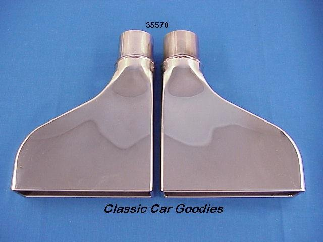 "Camaro ""Iroc"" Polished Stainless Steel Exhaust Tips"