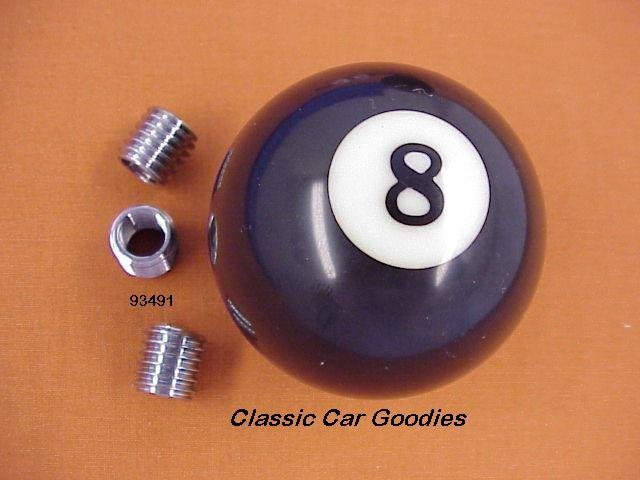 "Shift Knob ""8 Ball #2"" Pool Billiards Hustler Shark"