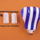 "Shift Knob ""9 Layer Twist Blue and White"""