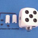 "Shift Knob ""White Dice"" Rock n Roll Craps Gambler"
