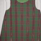 12-18 Months Burgundy and Green Plaid Dress