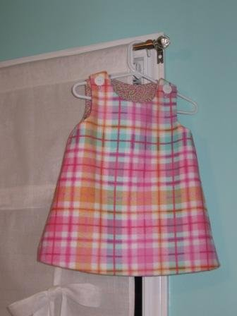 12-18 Months Plaid Flannel Dress