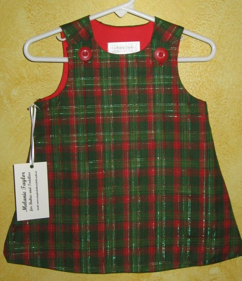 3-6 Months Red & Green Plaid Dress