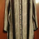Women's Fun and Flirt size M Black and white asymetrical stripped blouse
