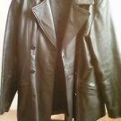Women Trucker  Black Leather Jacket size L