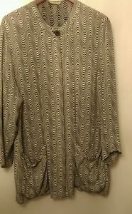 Women's designer zebra print dress shirt/blazer size XL