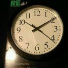 "Room Essentials 9"" Wall Clock Black 9x9x1.5 New in package"