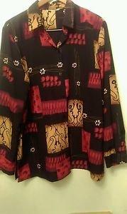 Womens floral design long sleeve blouse XL