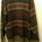 Mens vintage Northern Isles knit geometric pattern pullover sweater XL
