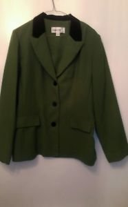 Womans Danny & Nicole Green and Black Suit Jacket size 16