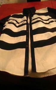 Mens spindle river western shirt size medium geometric patter long sleeve