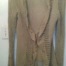 "CB Design"" Womens Long Sleeve Cotton Blend Knit X-Long Sweater/Ivory/sz XL"