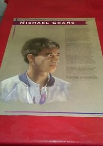 Michael Chang educational poster 22 x17 full color