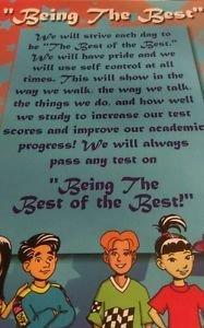 Being the Best children's motivational poster Multi-Color  encouragement