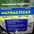 Prentice Hall Mathematics Course 2 : Spanish Assessment Resources (trade paper)