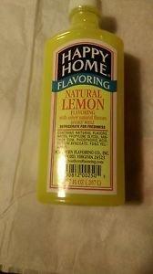 Happy Homes Natural Lemon Extract/Flavoring 7 oz
