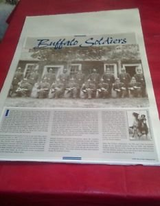 Buffalo Soldiers 24x18 inch full color poster educational