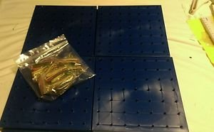 ETA Cuisenaire Double Side Geoboard with rubber bands lot of 8 7x7