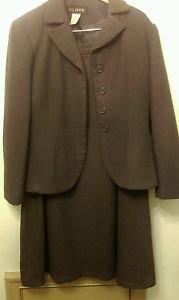 Womens JG Hook 2 piece wool skirt suit sz 14