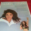 Gloria Estefan educational poster 22 x17 full color