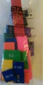 ETA CUISENAIRE decimal  TILES SET 51 PLASTIC, MATH, MANIPULATIVE MULTI-COLOR