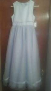 Flower Girls Dress Sequin Pearl Communion Baptism Pagean Graduation Prom size 12