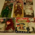 Ronald McDonald  Beanie Babies  Set (Libearty Rex, Maple, Britannia, & Erin)