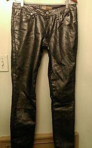 Womens Hybrid& Company sparkle silver stretch jeans size 11