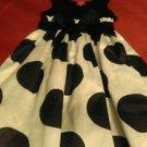 Girls Punky blue and white polka dot dress sz 10 knee length pre owned