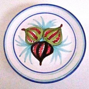Buon Giorno Fig plate Vietri Italian Majolica wall decor or serving