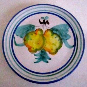 Vietri Buon Giorno Majolica pottery Lemons Plate serving or wall decor