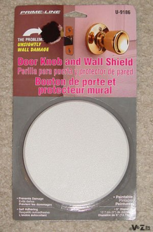 DOOR knob paintable STOPPER/STOP BUMPER-dry wall-shield/protector/plate/cover !!