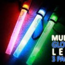 3-NEW Glow sticks LED REUSABLE non toxic/chemical fun4-kids ECO-FRIENDLY/SAFE !!