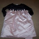 Girls Size 6X Dress By Bonnie Jean Holiday Dressy Cute Black and Pink