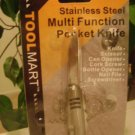NEW STAINLESS STEEL MULTI-FUNCTION POCKET KNIFE SWISS SCISSOR/SCREWDRIVER ARMY !
