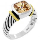 Champagne Cable14K2.5ct-4g women Ring White/yellow Gold size5,6,7,8,9,10platinum