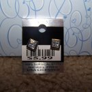 Sparkling Square Earring  New 100% Surgical Steel CE111