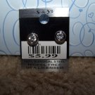 Sparkling Round Earring  New 100% Surgical Steel CE114
